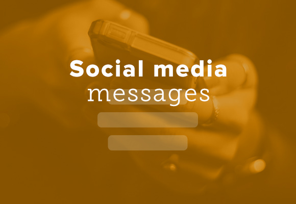 Social media messages