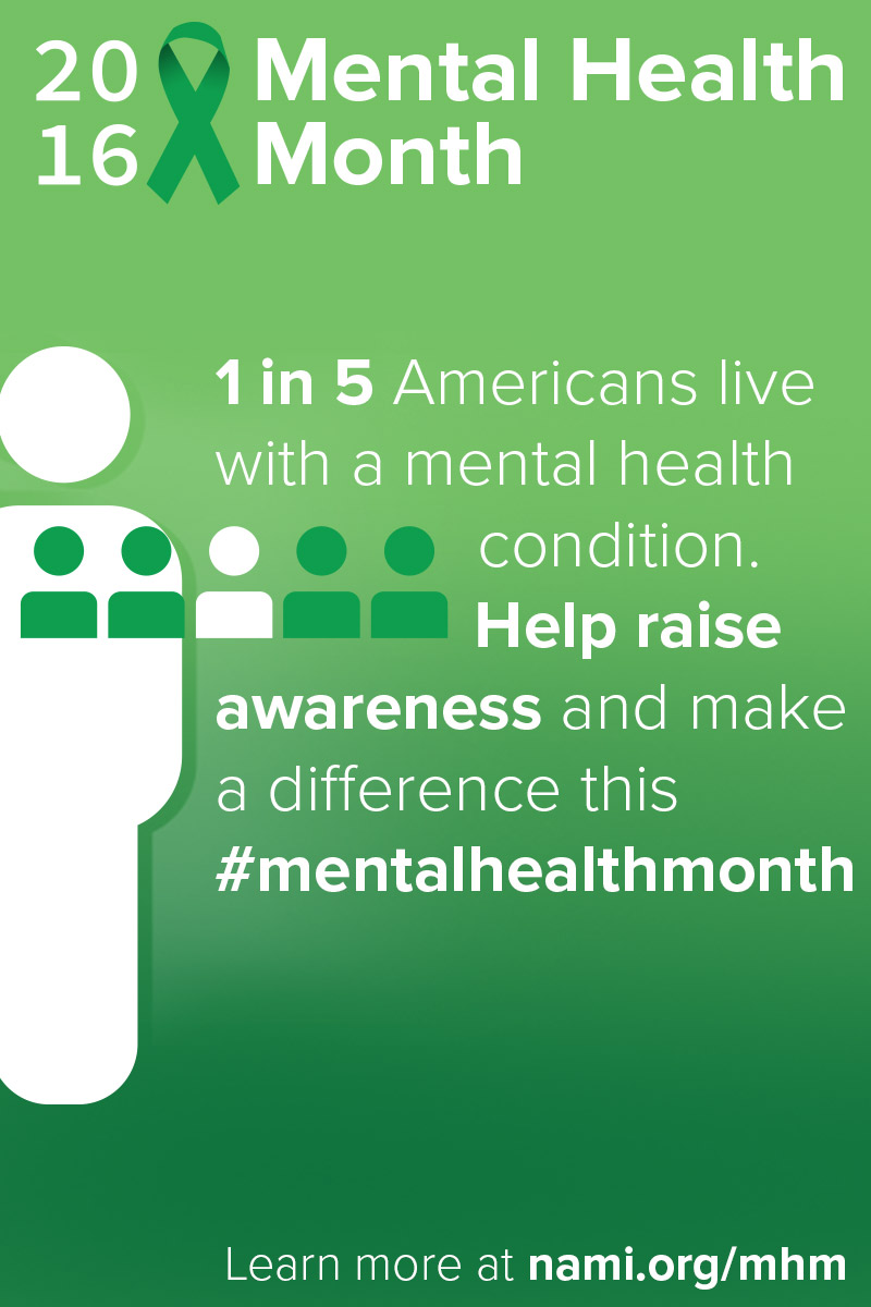 Help raise awareness for mental health month.