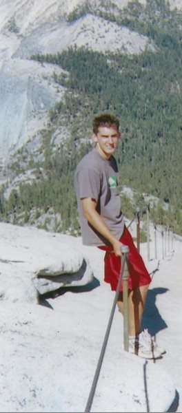Alex at Yosemite National Park in 2003