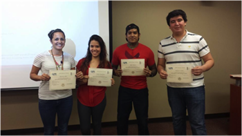 Receiving their certifications