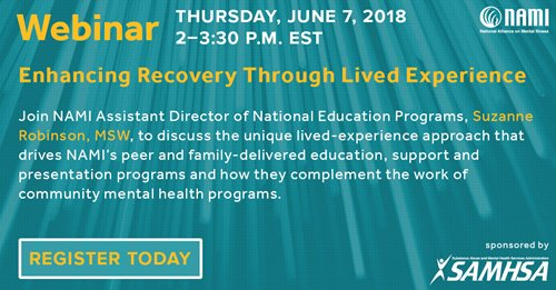 National Helpline Samhsa Substance Abuse And Mental Health >> Join Samhsa S Sponsored Webinar Enhancing Recovery Through Lived